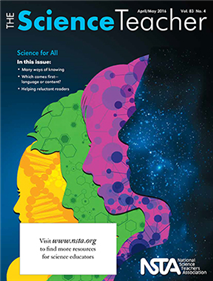 Cover image for April 2016 issue of Science Teacher